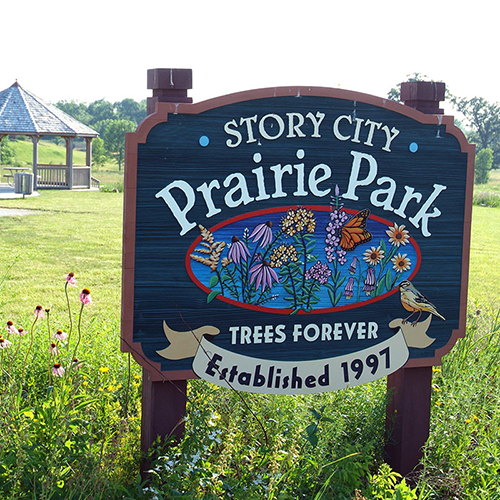 Story City Prairie Park Sign - City of Story City